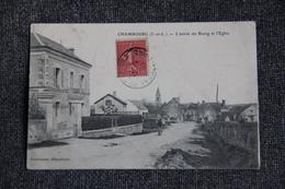CHAMBOURG - L'Entrée Du Bourg Et L'Eglise - France