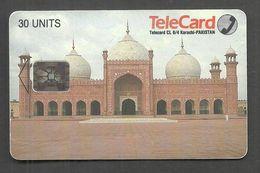 USED CHIP PHONECARD PAKISTAN BADSHAHI MOSQUE LAHORE - Pakistan
