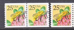 U.S.  2281    **   FAST  BEE  PAIR - Errors, Freaks & Oddities (EFOs)