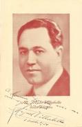 Photo Dédicacée 1934 De M. Miguel Villabella, Ténor Lyrique De L'Opéra (comique) - Dédicacées