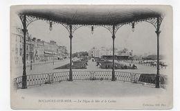 BOULOGNE SUR MER - N° 69 - LA DIGUE DE MER ET LE CASINO VUS DEPUIS LE KIOSQUE - CPA NON VOYAGEE - Boulogne Sur Mer