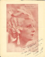 Photo Dédicacée 1934 D'Hermine Gatti De L'Opéra Comique - Studio L. Aicard - Dédicacées