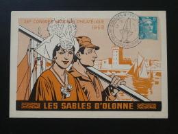 Carte Postcard Costume Marin Congrès Philatélique Les Sables D'Olonne 85 Vendée 1953 - Costumes