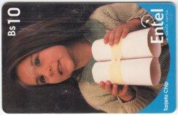 BOLIVIA A-019 Chip Entel - People, Child - Used - Bolivia