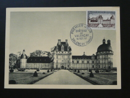 Carte Maximum Card Chateau De Talleyrand Castle Valencay 36 Indre 1957 - Maximum Cards