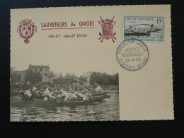 Carte Maximum Card Joutes Nautiques Sea Jousting Givors 69 Rhone 1958 - 1950-59
