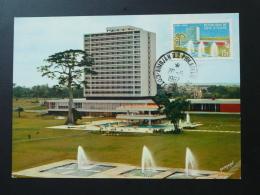 Carte Maximum Card Hotel Ivoire Abidjan Côte D'Ivoire 1967 - Ivory Coast (1960-...)