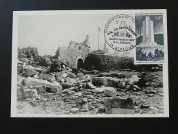 Carte Maximum Card Résistance Mont Mouchet Saint Flour 15 Cantal 1970 - 2. Weltkrieg