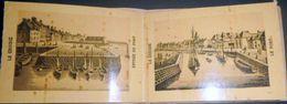 44 LE CROISIC DEPLIANT DE 8  PHOTOGRAVURES DE VUES DU CROISIC VERS 1880 LE PORT LES QUAIS BATZ PIBRIAC 10 X 8 CM - Le Croisic