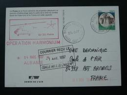 Carte Postcard Opération Harmonium Hélicoptère Puma Armée De L'Air Oblit. Brindisi Italie 1997 - Hélicoptères