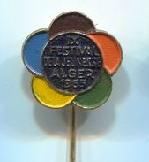 IX. Festival Of Students And Youth, Alger - Vintage Pin, Badge, Abzeichen - Associations