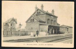 CPA 59- HASNON - Nord - La Gare Vue Intérieure -  Recto Verso- Paypal Sans Frais - Altri Comuni