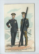 CPA  - Officier Mécanicien Et Officier De L'Etat Major Particulier Du Ministre - Uniforms