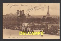 DF / 75 PARIS / LE JARDIN DES TUILERIES / CIRCULÉE EN 1908 - Parks, Gardens