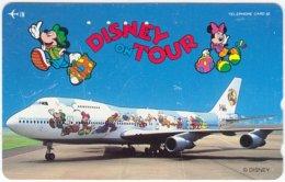 JAPAN G-720 Magnetic NTT [110-161053] - Traffic, Airplane, Walt Disney, Mouse Family - Used - Japan