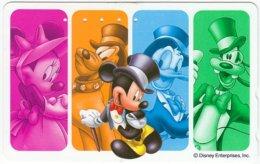 JAPAN G-780 Magnetic NTT [110-208201] - Walt Disney, Mouse Family - Used - Japan