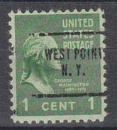 USA Precancel Vorausentwertung Preo, Locals New York, West Point 704 - Vereinigte Staaten