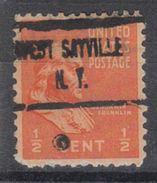 USA Precancel Vorausentwertung Preo, Locals New York, West Sayville 723 - Vereinigte Staaten