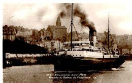 N°60638 -cpa Boulogne Sur Mer -arrivée Du Bateau De Folkstone- - Bateaux