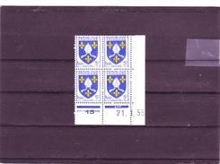 N° 1005 -5F Blason De SAINTONGE - C De C+D - Tirage Du 10.1.55 Au 24.2.55 - 21.01.1955 - - Coins Datés