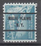 USA Precancel Vorausentwertung Preo, Bureau New York, White Plains 1031A-71 - Etats-Unis