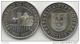 100 ESCUDOS - KM#651 - 350th ANNIVERSARY - RESTORATION OF PORTUGUESE INDEPENCENCE 1990 - Portugal