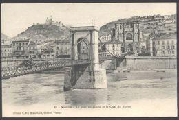 Vienne - Le Pont Suspendu Et Le Quai Du Rhône - Cliché CD Blanchard Edit. N° 69 - Voir 2 Scans. - Vienne
