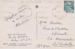 17  - OBLITERATION LA ROCHELLE SUR TIMBRE TYPE MARIANNE DE GANDON  8 F BLEU CLAIR - Marcofilie (Brieven)