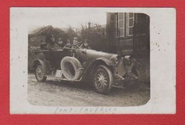 Pont Faverger   --  Carte Photo --  Soldats Allemands -dans Une Voiture  --  XII Res ArméeKorp - Other Municipalities