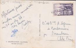 17  - OBLITERATION  MIRAMBEAU  SUR TIMBRE  N 979 QUIMPER RUE KEREON - Marcofilie (Brieven)