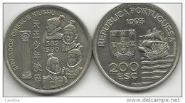 PORTUGAL- 200 ESCUDOS-KM#667-1993-1582/1590 ENVIADOS DAIMOS KIUSHU-UNC-COPPER-NICKEL - Portugal