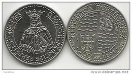 PORTUGAL- 200 ESCUDOS-KM#673-1994-1495/1995 KING JOHN II-UNC-COPPER-NICKEL - Portugal