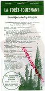 29- LA FORET FOUESNANT- QUIMPER-DEPLIANT TOURISTIQUE- PLAGE KERVELEN-ANSE SAINT LAURENT-LE MERDY CONCARNEAU - Dépliants Touristiques