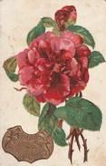 Carte Postale Ancienne Fantaisie Gaufrée - Fleurs - Rose - Fantasia