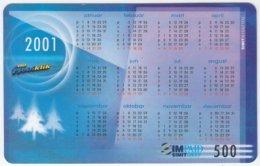 SERBIA A-297 Prepaid Simit - Calendar 2001 - Used - Yugoslavia