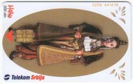 SERBIA A-373 Chip Telekom - Culture, Traditional Wear - Used - Yugoslavia