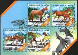 {N27} Niger 2014 Horses Sheet Used / CTO - Niger (1960-...)