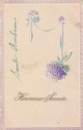 Carte Postale Ancienne Fantaisie Gaufrée - Heureuse Année - Fantasia