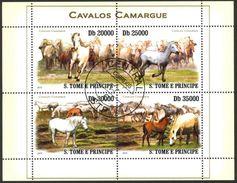 {Sao10} Sao Tome And Principe 2010 Horses Sheet Used / CTO - São Tomé Und Príncipe