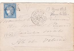 370 - LSC - 13.3.73 -  ETOILE DE PARIS  -  SAINT MALÔ - Postmark Collection (Covers)