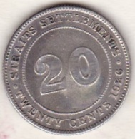 Straits Settlements , 20 Cents 1926 . George V. Argent. KM# 30b - Malaysie