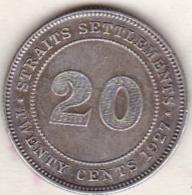 Straits Settlements , 20 Cents 1927 . George V. Argent. KM# 30b - Malasia