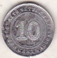Straits Settlements , 10 Cents 1888 . Victoria. Argent. KM# 11 - Malasia