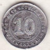 Straits Settlements , 10 Cents 1888 . Victoria. Argent. KM# 11 - Malesia