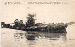 ZEEBRUGGE - Le Thétis, Torpilleur Anglais Coulé Lors De L' Embouteillage Du Port - Guerre 1914-18 - Militaria (101481) - Non Classés