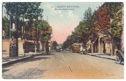 Cpa Marseille Saint-Antoine - Route Nationale - Quartiers Nord, Le Merlan, Saint Antoine