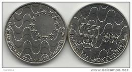 PORTUGAL- 200 ESCUDOS-KM#663-1992-PRESIDENCY OF THE EUROPEAN COMMUNITY-UNC-COPPER-NICKEL - Portugal