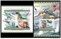 SOLOMON Isl. 2016 - World War 2: Pearl Harbour. M/S + S/S - Solomoneilanden (1978-...)