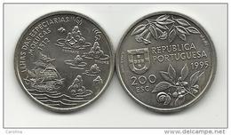 PORTUGAL- 200 ESCUDOS-KM#682-1995-1512 MOLUCAS-SPICE ISLANDS-UNC-COPPER-NICKEL - Portugal