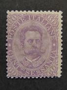 """ITALIA Regno-1889- """"Effigie"""" C. 60 MNH** (descrizione) - Neufs"""